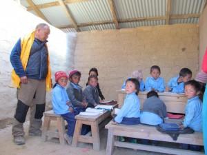 Children back in the classroom in Goli
