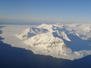 Flying into Svalbard