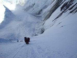 Climbing up the Lhotse Face
