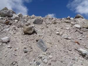 Landslide area outside of Everest base camp