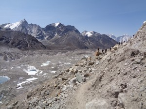 landslide area outside Everest base camp