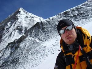 Ian Taylor high on Everest