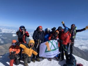 On the summit of Mount Elbrus 2019