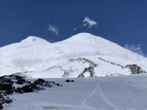 The view up Mount Elbrus