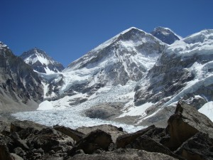 Mt Everest from the Everest base camp trek