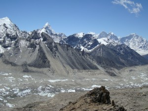 The view across the Himalaya's from Kala phattar