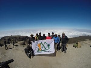 One of our teams on Kilimanjaro in August 2016