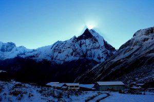 Machapuchare mountain from Annapurna Base Camp