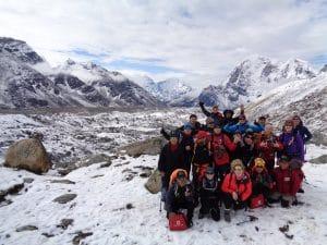 Above the Khumbu glacier