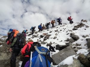 The route in and out of Everest Base Camp