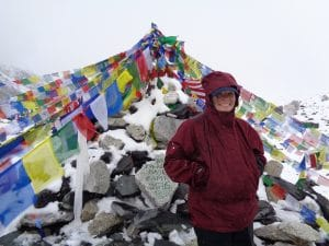 Loria Taylor at Everest Base Camp
