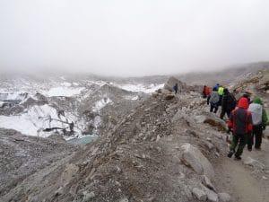 The route back to Gorak Shep 5,180m