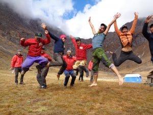 Ian Taylor Trekking staff in Chunbu Kharka