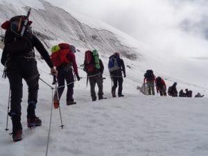 New route to the Mera La on Mera peak