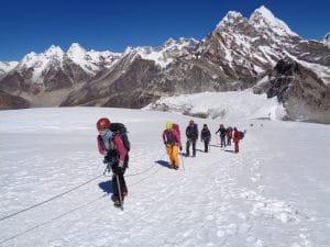 The view above mera peak peak base camp