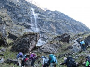 Hiking to Annapurna Base Camp