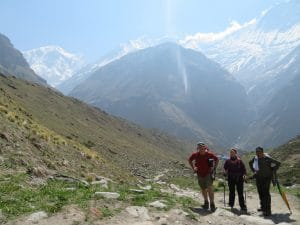 The valley that leads to Annapurna Base Camp