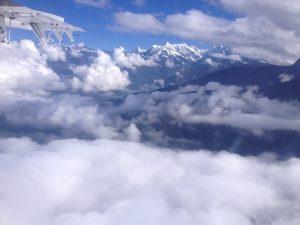 The flight from Lukla to Kathmandu