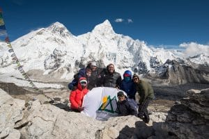 Ian Taylor Trekking with Mt. Everest in the background
