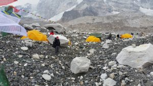 The scene from our camp in Everest base camp
