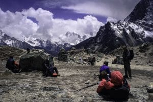The trek up through the Everest region