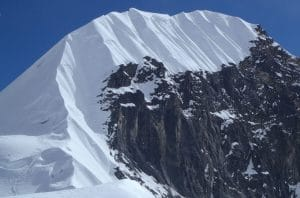 The summit ridge on Tent peak 5,696m