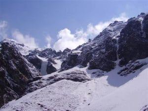 Amazing mountain views on route to Tent Peak