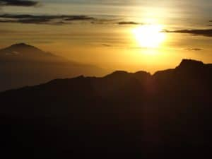 Watching the Sunrise on Kilimanjaro