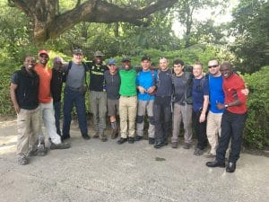 Ian Taylor Trekking group in Arusha