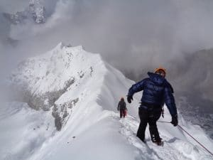 How difficult is the Island peak climb in Nepal