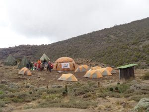 Barranco Camp on Kilimanjaro