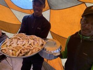 Fresh food on Kilimanjaro