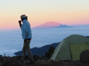 Mount Meru from Shira Camp 2