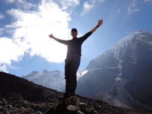 Ian Taylor near Mera Peak