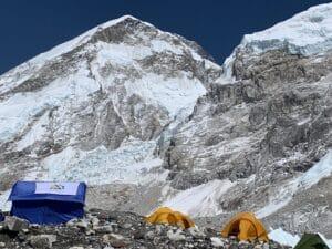 Sleeping at Everest Base Camp