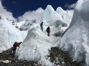 The Khumbu Ice Fall in Everest Base Camp
