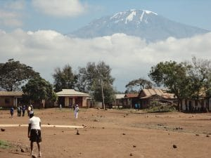 Kilimanjaro from the road side