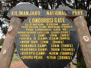 The Londrossi Gate on Kilimanjaro