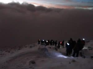 Summit night on Kilimanjaro