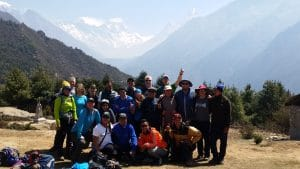 Ian Taylor Trekking team in the Everest Region
