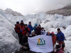 On the Khumbu glacier