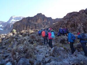 Ian Taylor Trekking on Kilimanjaro