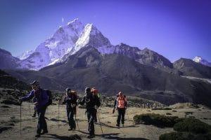 Trekking to Lobuche