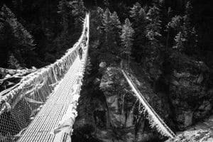 The high bridge below Namche