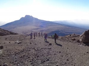Coming off the Summit of Kilimanjaro