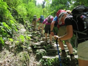 Staircase hiking in the Annapurna region