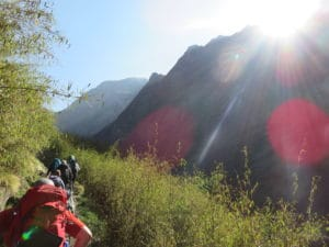Trekking towards Annapurna Base Camp