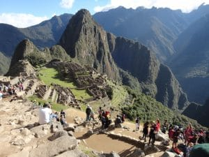 The Incan city of Machu Picchu