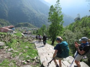 Some of the Stairs on the Annapurna Base Camp Trek
