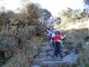 The Many Steps up and down on the Inca Trail